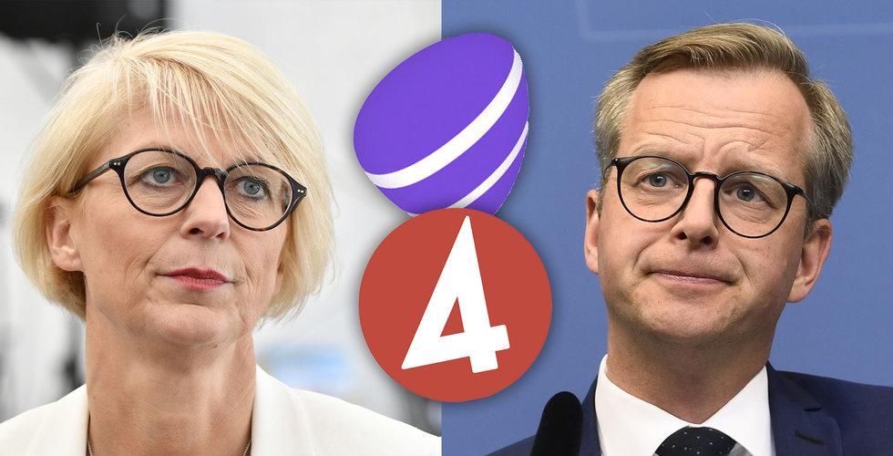 """Moderaterna och Socialdemokraterna kritiserar Telia: """"Olämplig affär"""""""