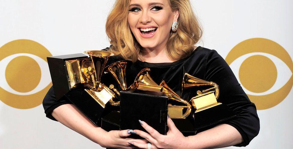 Nobba Spotify jackpott för Adele - slår alla tiders försäljningsrekord
