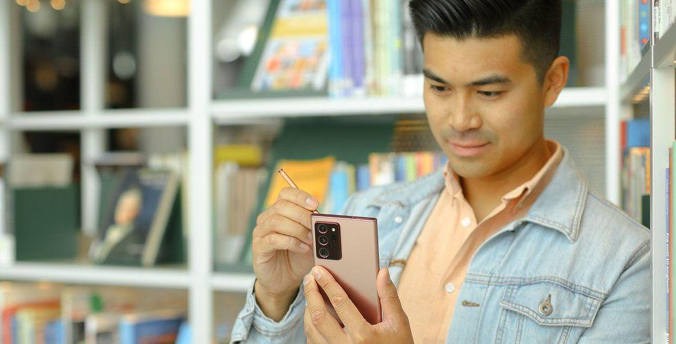 """""""Den stora skärmen är fantastisk"""" – så tycker mobilexperterna om nya Samsung Note 20 5G"""