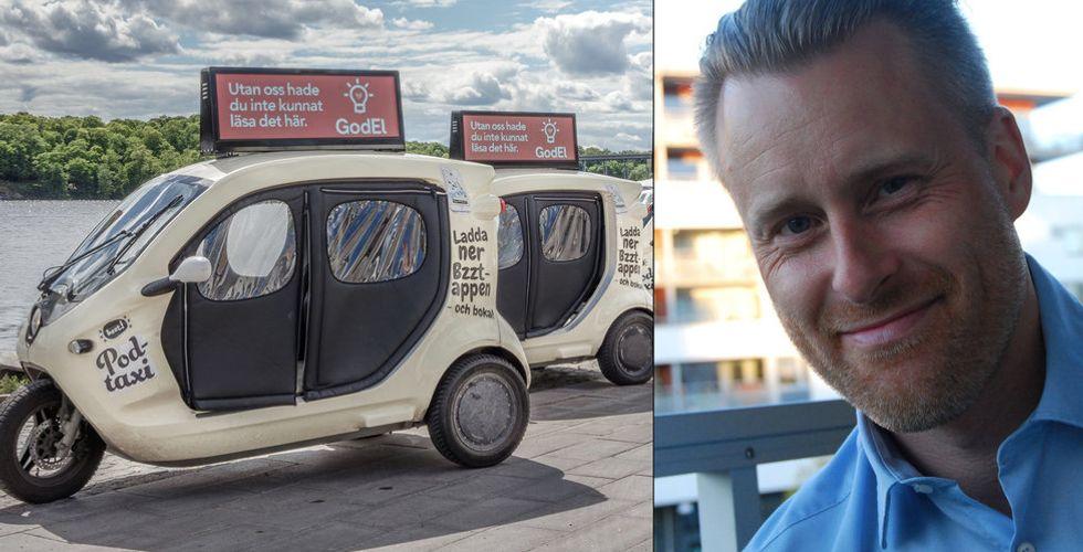 """Taximoppen Bzzt tar in pengar för att kunna rulla vidare – """"Gått back en miljon i månaden"""""""