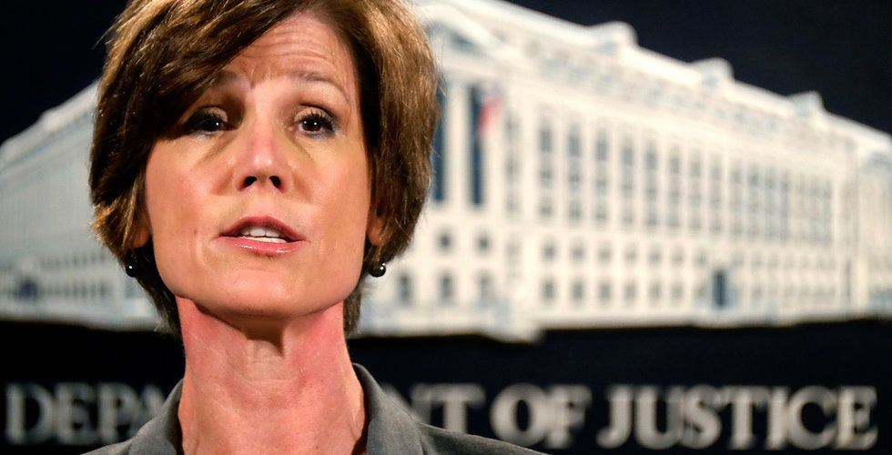 Trumps hårda linje – nu sparkar han Sally Yates