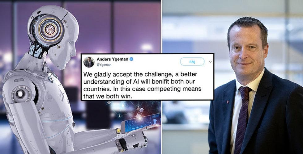 Finska ministern utmanar Anders Ygeman: Utbilda svenskarna i AI