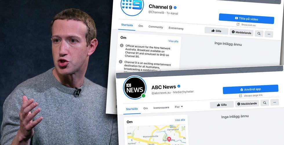 Facebook stoppar inlägg från australiska medier – får tung kritik