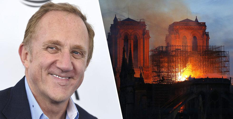 François-Henri Pinault skänker 1 miljard till Notre Dame
