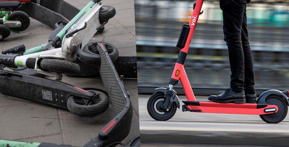 """Endast 5 elsparkcyklar har fått en """"p-bot"""" – på en hel månad"""