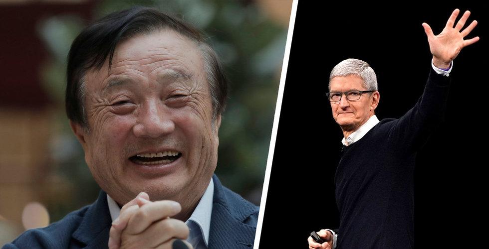"""Huawei-chefen vill inte se hämnd: """"Apple är min lärare"""""""