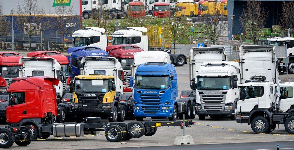 Scania i samarbete med  Ahola Transport om  självkörande lastbilskonvojer
