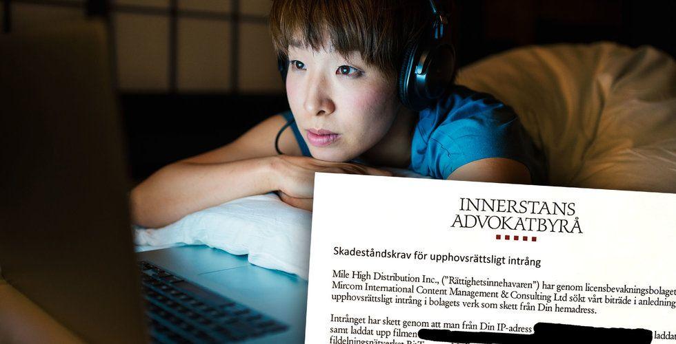 Fildelarnas nya skräck: Kravbrev på 7.000 kronor skickas i Sverige