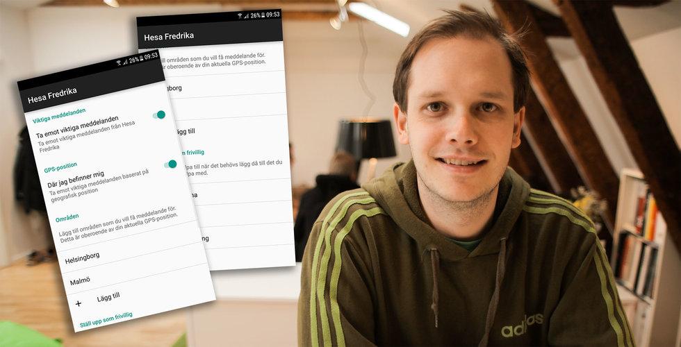 Breakit - Efter falsklarmet i Stockholm: Pirate Bay-grundaren bygger appen Hesa Fredrika