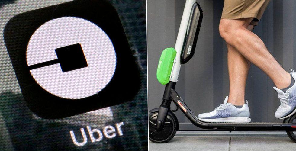 Uber utvärderar att köpa upp Lime eller Bird