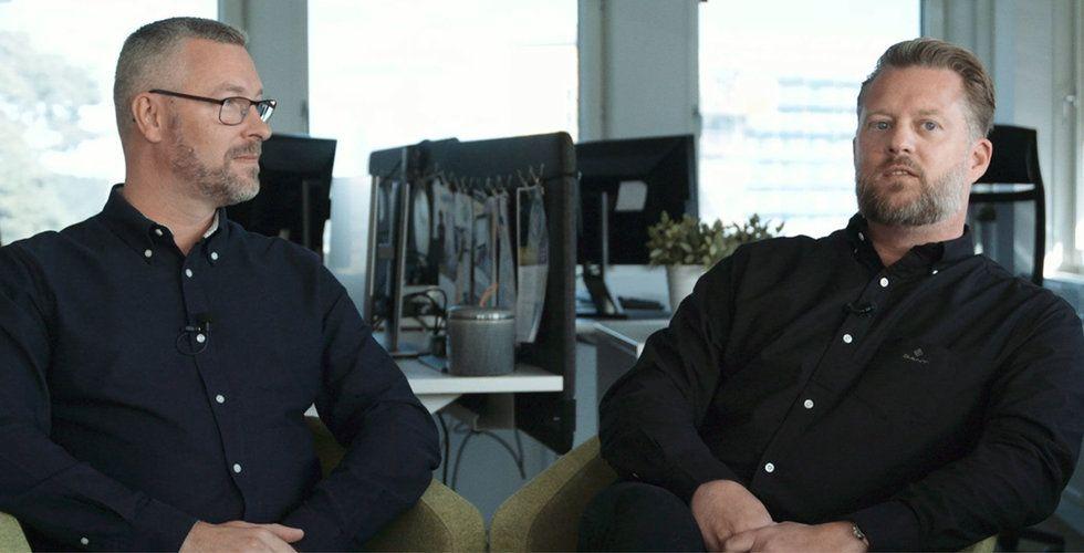 Niklas Horn Lundberg (vd) och Stefan Hallsten (vice vd), OptoSweden.