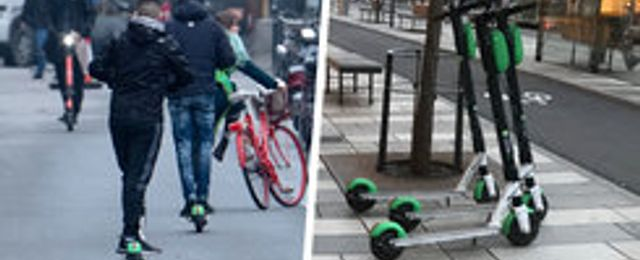 Stockholm vill införa parkeringszoner för elscootrar