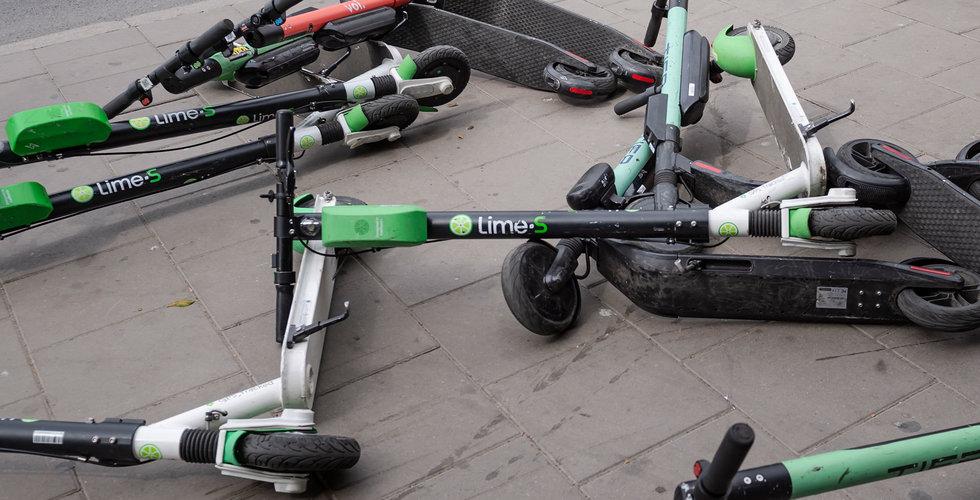 Beskedet: krävs tillstånd från polisen att ställa ut elsparkcyklar