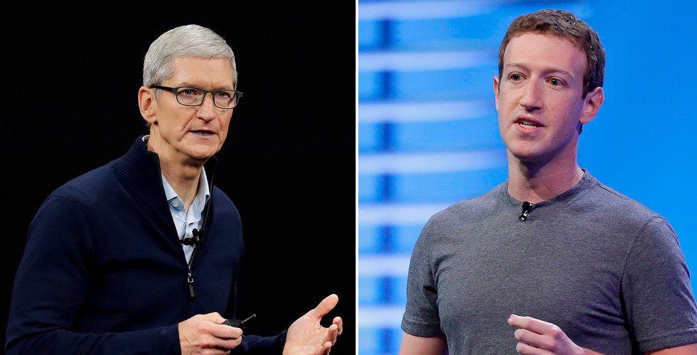 Apple och Facebook drabbar samman över personlig integritet