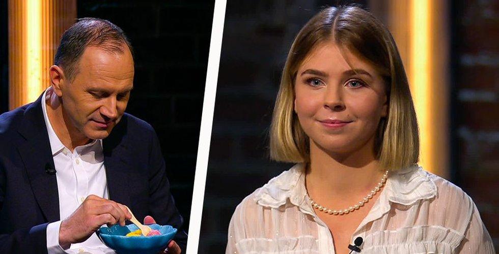Ätbara skedarna gick hem: Hon fick dubbla kapitalet i Draknästet – från oväntat håll