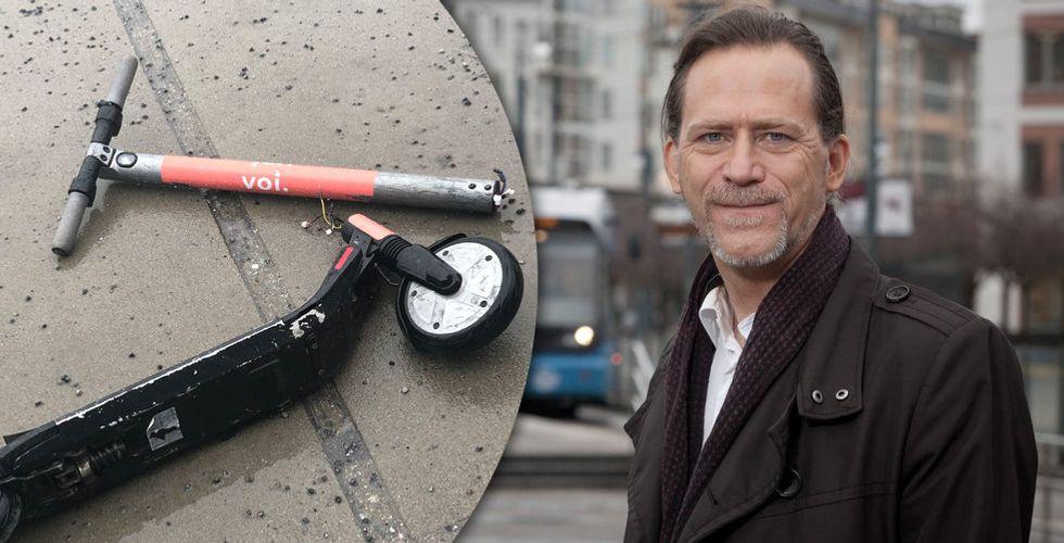 """Daniel Helldén om elscooterdöden: """"Jag förutsätter att de skaffar mer hållbara cyklar"""""""