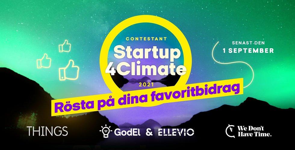 Vassa affärsidéer för klimatet tävlar om två miljoner kronor – rösta på dina favoriter