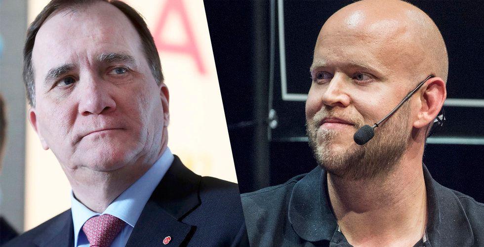 Daniel Ek skickar brev till Löfven – vädjar om att slippa ny skatt