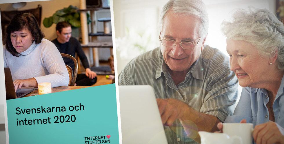Svenskarna och internet 2020: Året då pensionärerna tog klivet ut på nätet