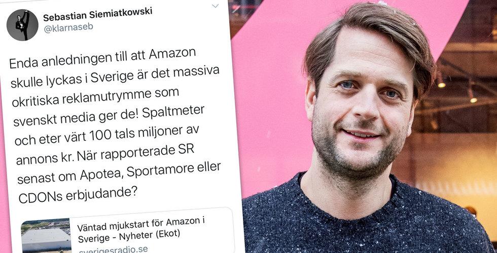 """Sebastian Siemiatkowski till attack mot svenska medier: """"Massivt okritiska"""""""
