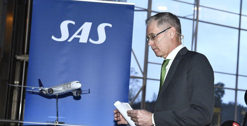 SAS överväger att tillfälligt sluta att flyga inrikes