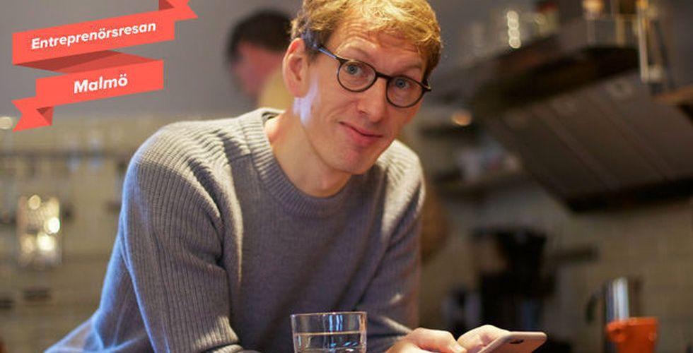 Så bygger han Skånes techscen med pengarna från TAT-affären