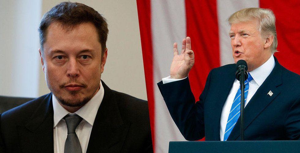 Breakit - Elon Musk gör slut med Trump
