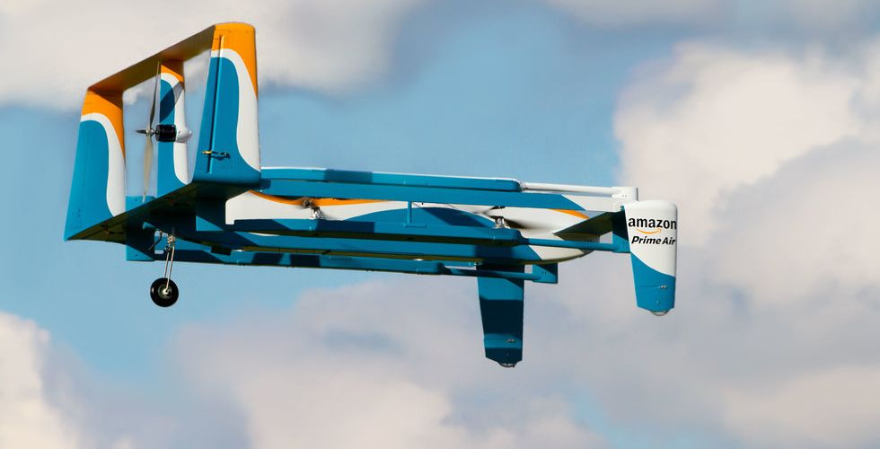 Så ser Amazons drönare ut - ska leverera paket på mindre än en timme