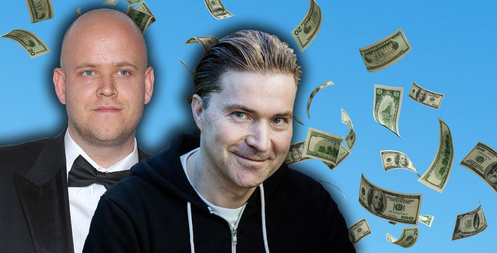 Spotify-grundarna Martin Lorentzon och Daniel Ek har sålt aktier för miljarder