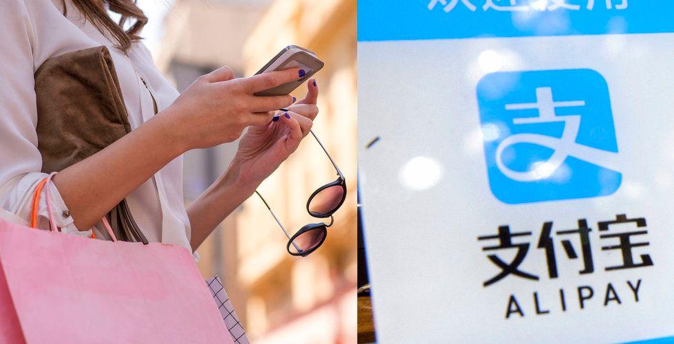 """Alibabas betaltjänst rullas ut stort i Sverige: """"Kineser är storshoppare"""""""