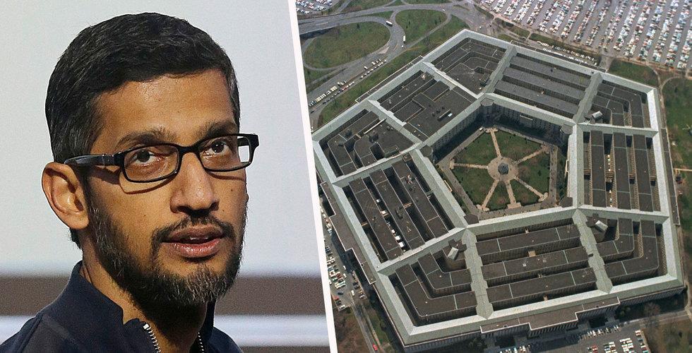 Breakit - Googles anställda motsätter sig AI-projekt med Pentagon