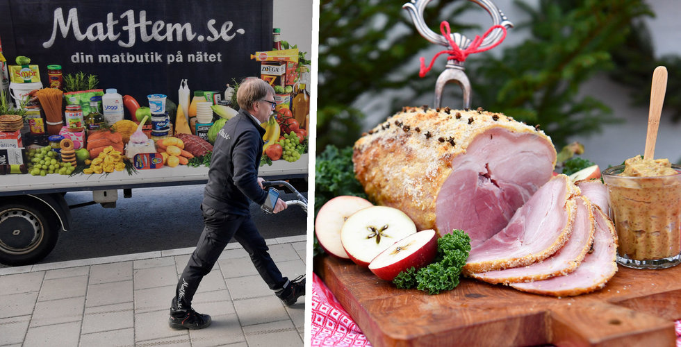 Haveri på Mathem - stockholmare utan julgröt och skinka