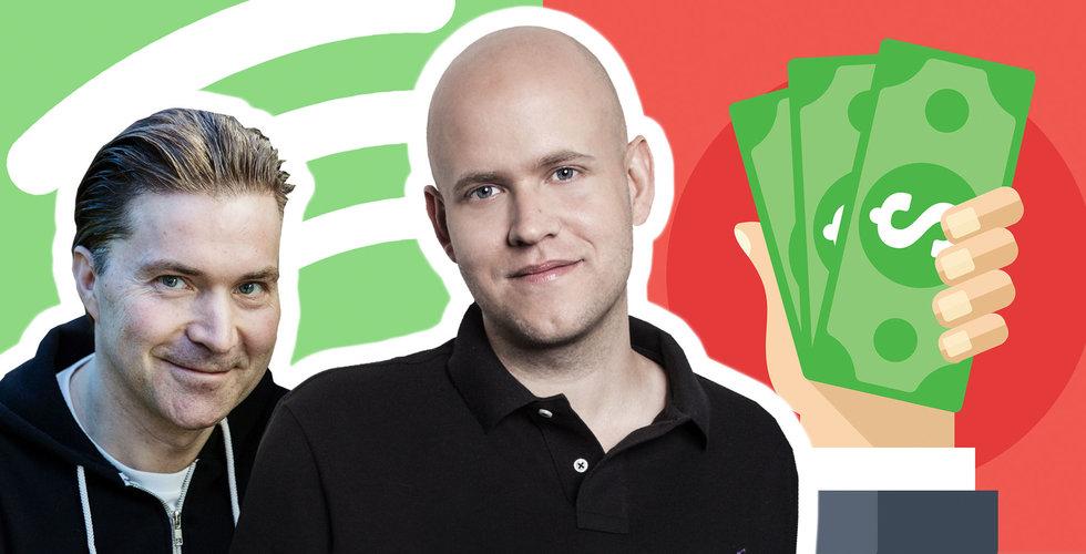 Så blev Spotifys pressade aktiekurs till en miljardvinst