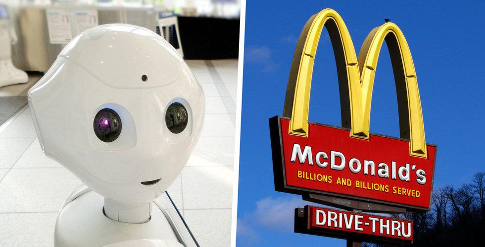 McDonalds köper AI-bolag som ska automatisera drive thru-tjänsten