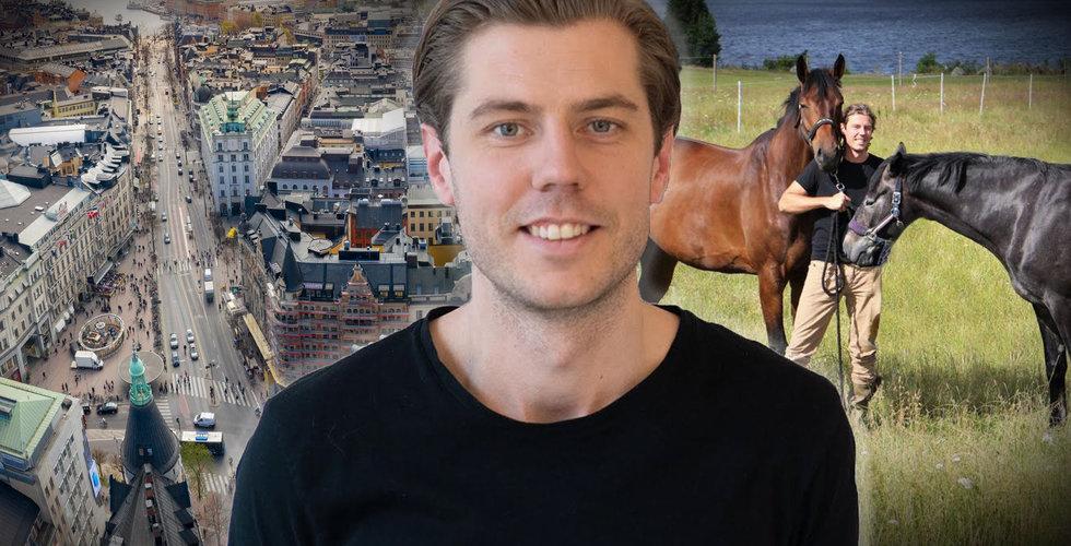 """Techbonden startade Blipp på Östermalm men driver bolaget från hästgården: """"Hatar att det är så"""""""