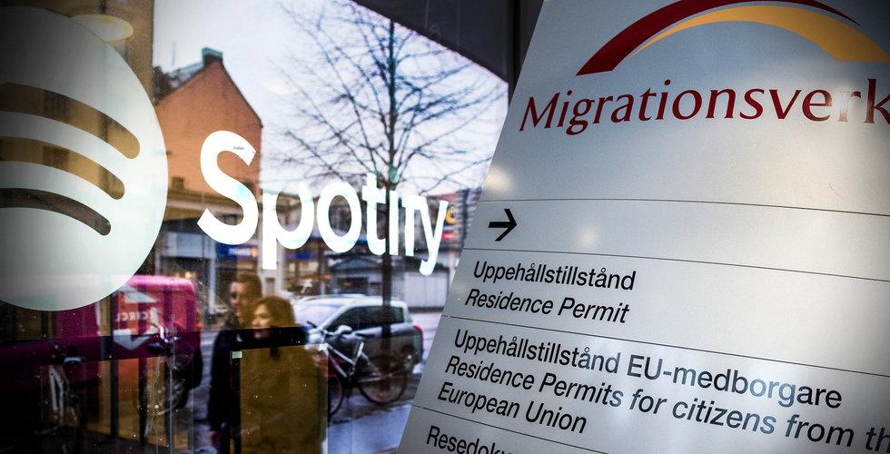 Uppgifter: 40 Spotify-anställda saknade försäkringar – kan mista arbetstillstånd