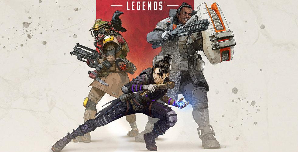 Fortnite-utmanaren Apex Legends tappar rejält med intäkter