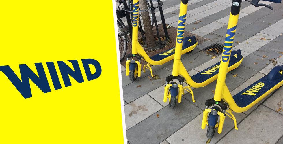 Tungt backade Wind har rullat ut sina elsparkcyklar i Stockholm