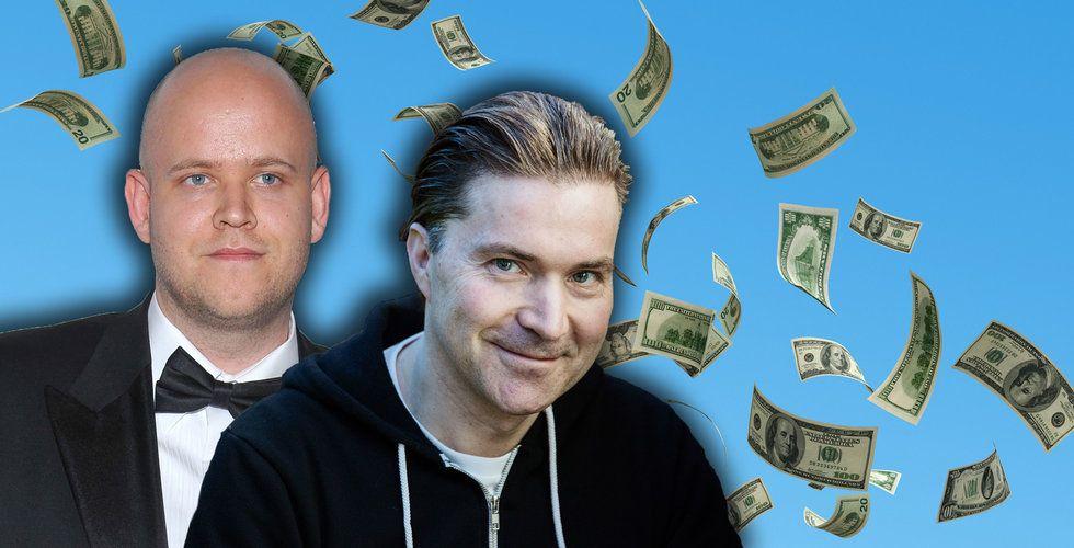 Spotify-grundarna säljer aktier för 2 miljarder kronor