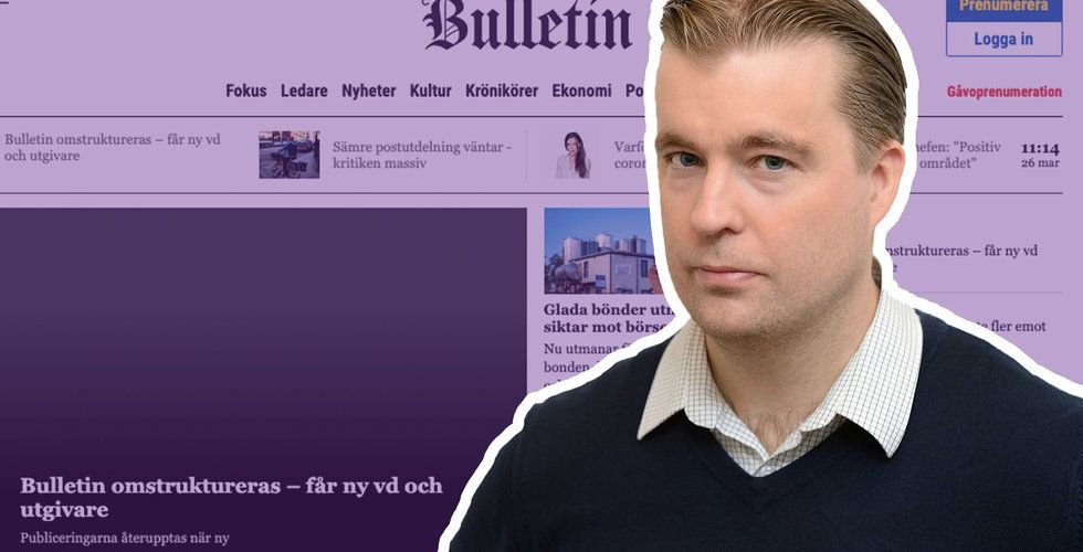 """Paradox-miljardären dumpar Bulletin: """"Delade inte uppfattning om hur ett bolag bör drivas"""""""