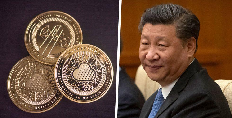 Kinas centralbank nära att lansera egen kryptovaluta