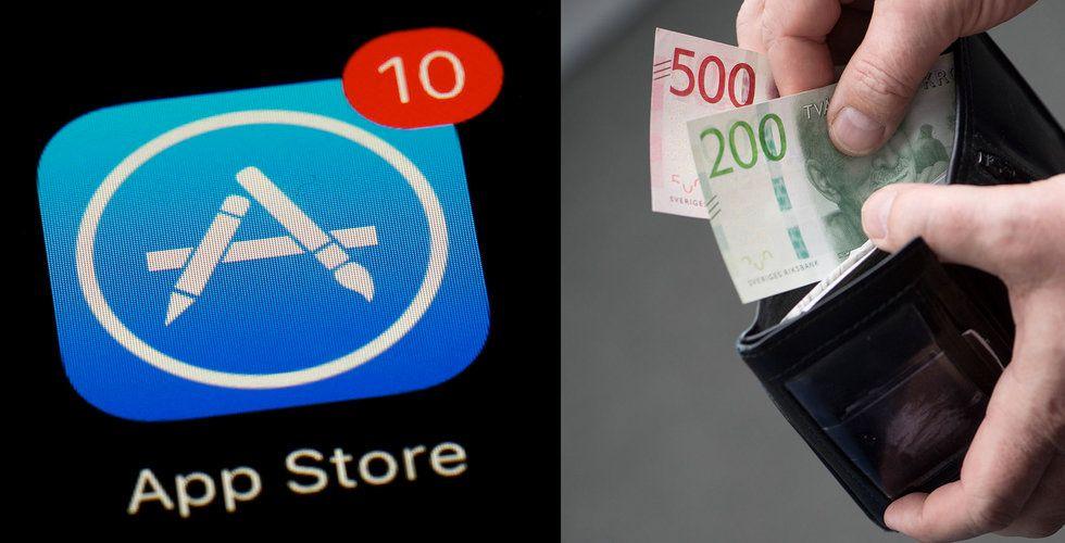 Dyrare appar på Iphone i Sverige när kronkursen sjunker