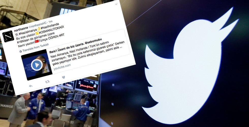 Breakit - Svenska Northzone twittrade hakkors – hundratals konton kapade