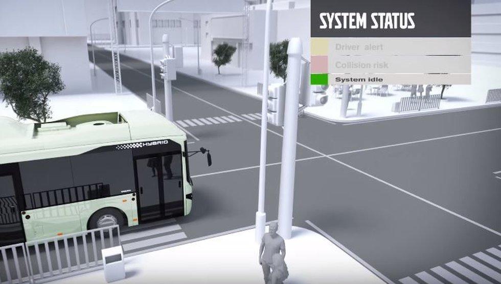 Breakit - Här är Volvos smarta buss - som tutar om du kommer för nära