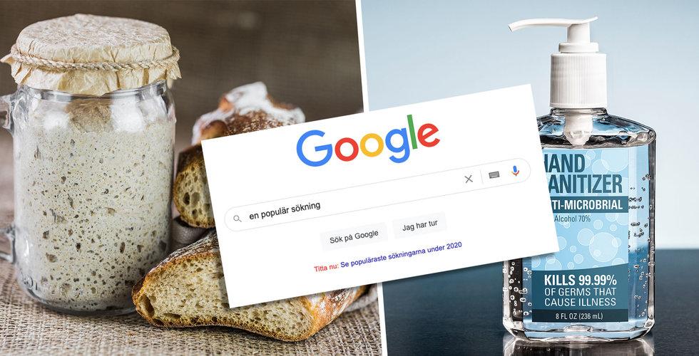 Handspriten besegrade surdegsbrödet – och andra trender när svenskarna googlar