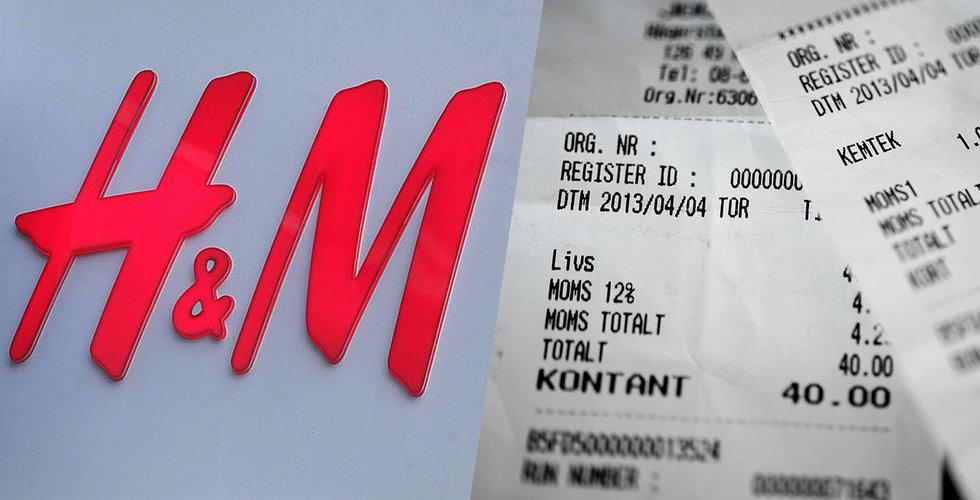 Nu börjar H&M också med digitala kvitton – döper om sitt medlemskap