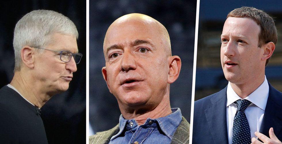 Techjättarna förlorare på börsraset – tappade 4.000 miljarder på en dag