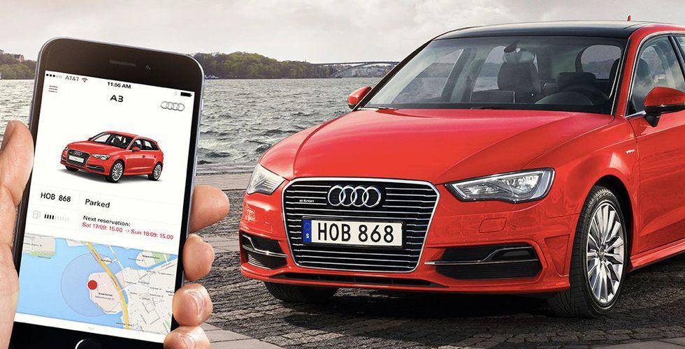 Audi drar i bromsen – skrotar sin svenska bildelningstjänst Audi Unite