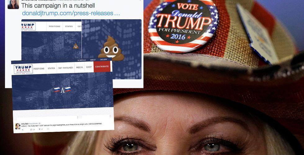 Breakit - Mitt under valrysaren – märkliga budskap via Donald Trumps sajt