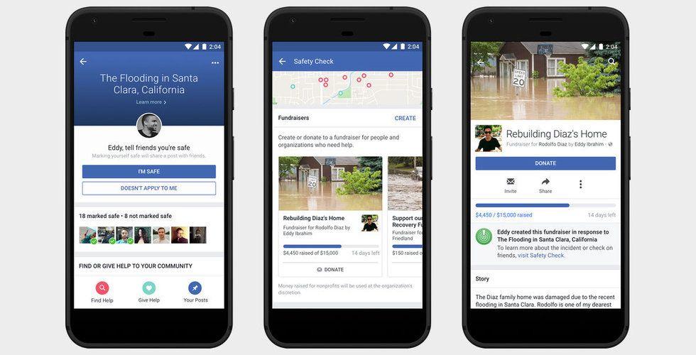 Breakit - Facebook öppnar för välgörenhet i krissituationer via säkerhetsfunktionen